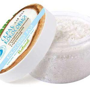 Кокосовый сахарно-соляной скраб «КОКОСОВЫЙ РАЙ»