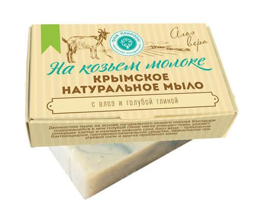 """Крымское натуральное мыло на козьем молоке """"АЛОЭ ВЕРА"""""""