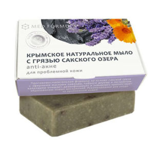 Натуральное мыло на основе лечебной грязи Сакского озера - MED formula «Аnti-акне»