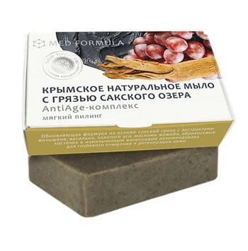 Натуральное мыло на основе лечебной грязи Сакского озера - MED formula «АntiАge-комплекс»