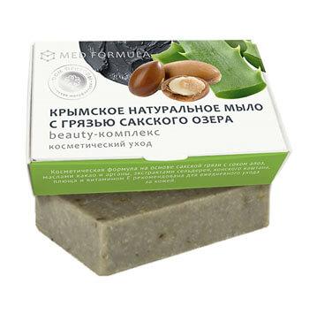 Натуральное мыло на основе лечебной грязи Сакского озера - MED formula «Beauty-комплекс»