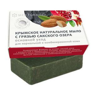 Натуральное мыло на основе лечебной грязи Сакского озера - MED formula «Основной уход»