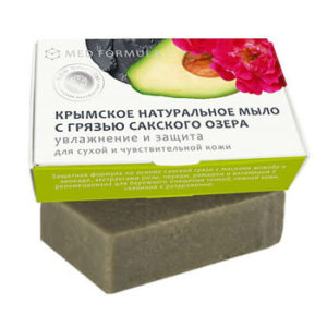 Натуральное мыло на основе лечебной грязи Сакского озера - MED formula «Увлажнение и защита»