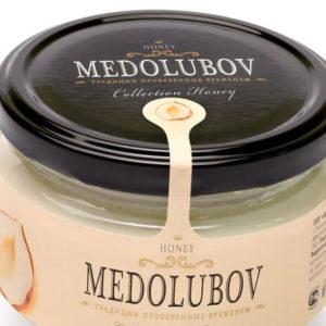 Крем-мёд Медолюбов с фундуком