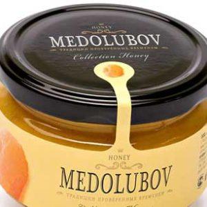 Крем-мёд Медолюбов с курагой