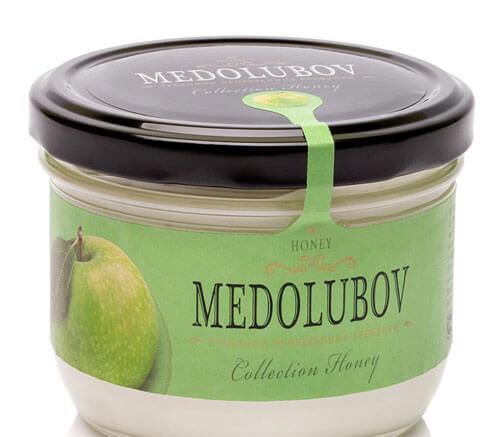 Крем-мёд Медолюбов с яблоком
