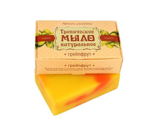"""Тропическое мыло натуральное """"ГРЕЙПФРУТ"""""""