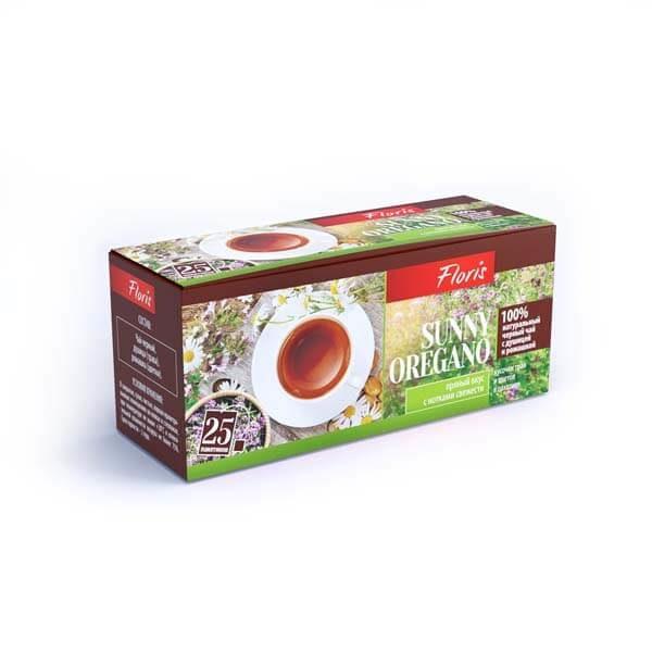 """Черный чай в пакетиках """"Sunny Oregano"""""""