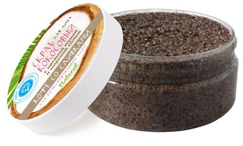 Кокосовый скраб для лица - кофе со сливками