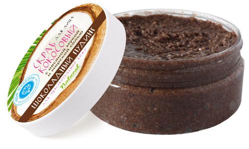 Кокосовый скраб для лица - шоколадный пудинг