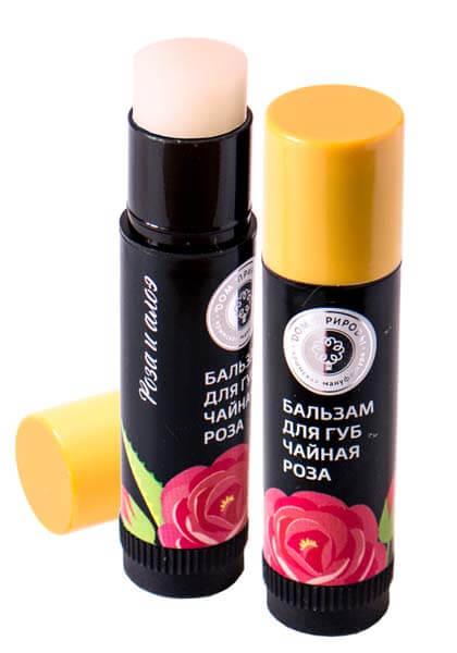 Натуральный бальзам для губ - чайная роза