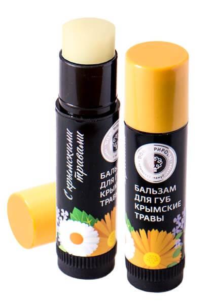 Натуральный бальзам для губ - крымские травы