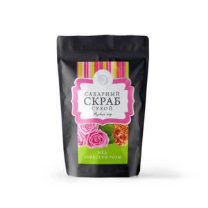 """Сухой сахарный скраб """"Розовый мед"""""""