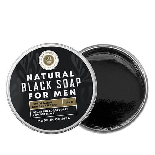 Натуральное черное мыло для мужчин