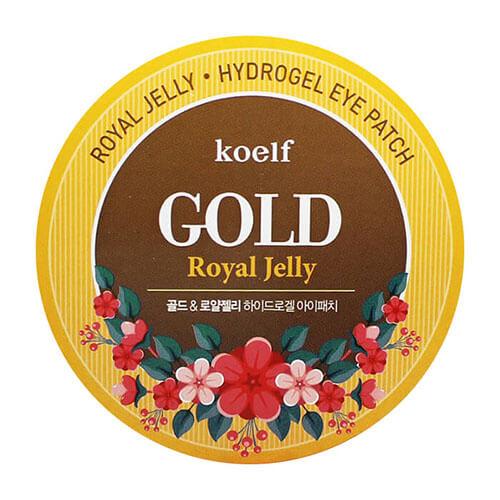 """Гидрогелевые патчи для области вокруг глаз с коллоидным золотом и маточным молочком Royal Jelly Hydro-Gel Eye Patch """"Koelf Cosmetic"""""""