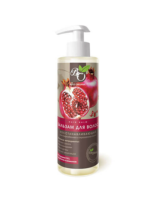 """Бальзам для поврежденных и окрашенных волос Восстанавливающий """"Bliss Organic"""""""