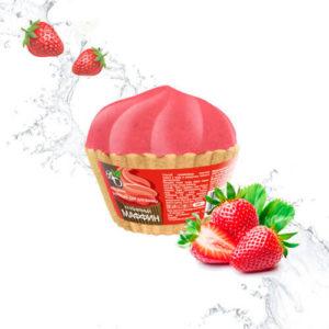 """Бурлящий шар для ванны Клубничный маффин """"Bliss Organic"""""""