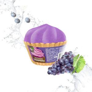 """Бурлящий шар для ванны Виноградный маффин """"Bliss Organic"""""""
