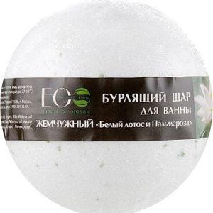 """Бурлящий шар для ванны Белый лотос и Пальмароза """"Eco Laboratorie"""""""