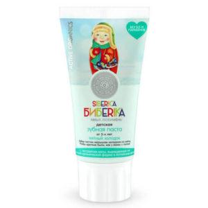 """Детская зубная паста от 3-х лет мятный холодок """"Natura Siberica"""""""