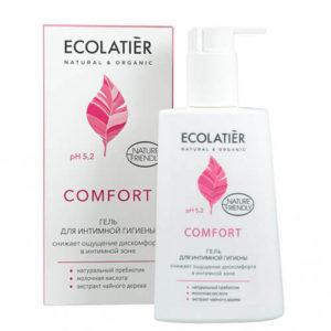 """Гель для интимной гигиены Comfort с молочной кислотой и пробиотиком Ecolatier """"Eco Laboratorie"""""""