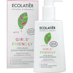 """Крем-мыло для интимной гигиены Girls' Friendly Бережный уход для девочек с 3-х лет Ecolatier """"Eco Laboratorie"""""""
