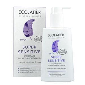 """Крем-мыло для интимной гигиены Super Sensitive для чувствительной кожи Ecolatier """"Eco Laboratorie"""""""