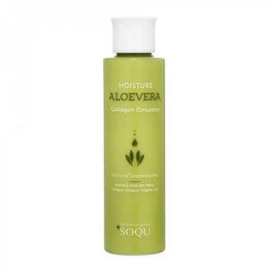 """Эмульсия для увлажнения и эластичности кожи с экстрактом алоэ вера и коллагеном Moisture Aloevera Collagen Emulsion """"Soqu"""""""