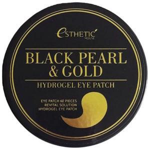 """Гидрогелевые патчи для области вокруг глаз с черным жемчугом и золотом Black Pearl And Gold Hydro-Gel Eye Patch """"Esthetic House"""""""