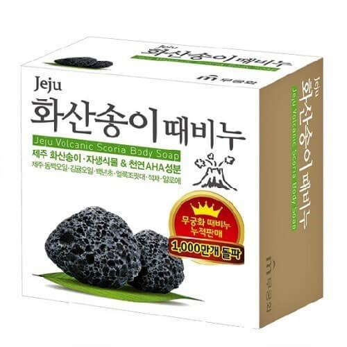 """Косметическое мыло для тела с вулканическим пеплом Jeju Volcanic Scoria Body Soap """"Mukunghwa"""""""