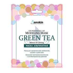"""Маска альгинатная с экстрактом зеленого чая успокаивающая Green Tea Modeling Mask """"Anskin"""""""