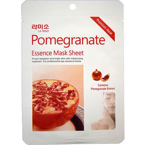 "Тканевая маска для лица увлажняющая с экстрактом граната Pomegranate Essence Mask Sheet ""La Miso"""