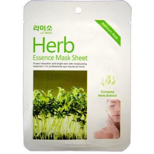 """Тканевая маска для лица увлажняющая с экстрактом лечебных трав Herb Essence Mask Sheet """"La Miso"""""""