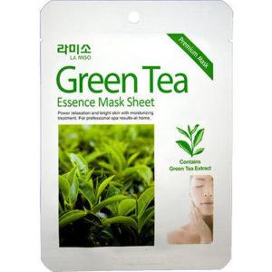 """Тканевая маска для лица увлажняющая с экстрактом зеленого чая Green Tea Essence Mask Sheet """"La Miso"""""""