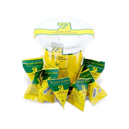 Кислотный скраб для лица c содой в пирамидке очищающий 7 Days Secret Pore Clear Powder Scrub