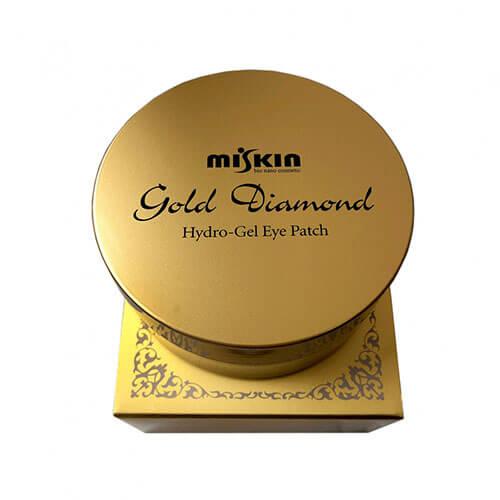 """Гидрогелевые патчи для области вокруг глаз с коллоидным золотом и алмазной пудрой Gold Diamond Hydro-Gel Eye Patch """"Miskin"""""""
