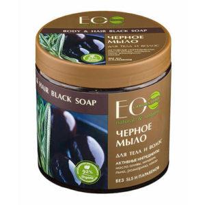 """Черное мыло для тела и волос """"Eco Laboratorie"""""""