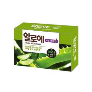 """Натуральное косметическое увлажняющее мыло для лица и тела с соком алоэ вера Fresh Aloe Soap """"Mukunghwa"""""""