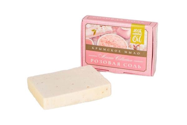 """Натуральное мыло Розовая соль """"Флора Natural Cosmetics"""""""