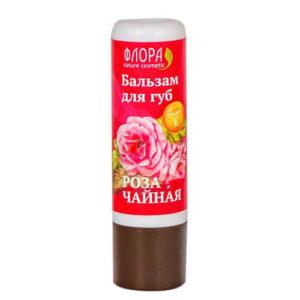 """Натуральный бальзам для губ Роза чайная """"Флора Natural Cosmetics"""""""