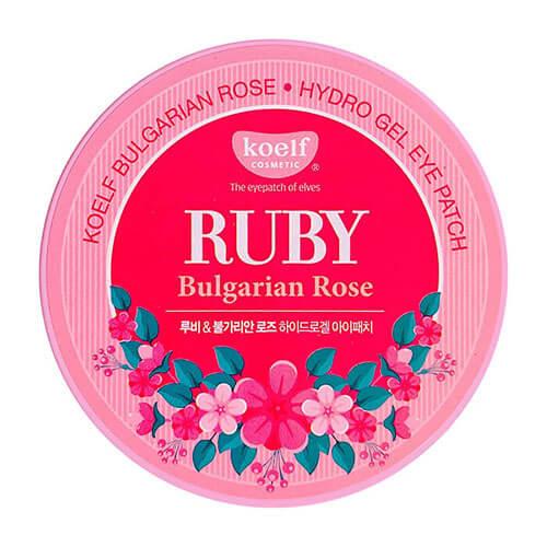 """Гидрогелевые патчи для области вокруг глаз с рубиновой пудрой Ruby And Bulgarian Rose Eye Patch """"Koelf Cosmetic"""""""