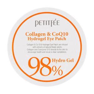 """Гидрогелевые патчи для области вокруг глаз с коллагеном и коэнзимом Hydro Gel Eye Patch Collagen Co Q10 """"Petitfée"""""""