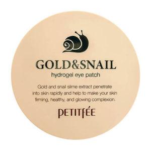 """Гидрогелевые патчи для области вокруг глаз с золотом и муцином улитки Hydro Gel Eye Patch Gold Snail """"Petitfée"""""""