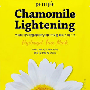 """Осветляющая гидрогелевая маска для лица с экстрактом ромашки Chamomile Lightening Hydrogel Face Mask """"Petitfée"""""""