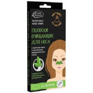 """Полоски для носа с зеленым чаем и экстрактом вулканического пепла """"Etude Organix"""""""