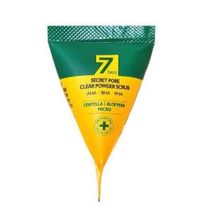 Кислотный скраб для лица c содой в пирамидке очищающий 7 Days
