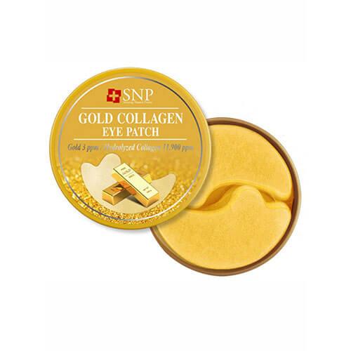 """Гидрогелевые патчи для области вокруг глаз и носогубки с золотом и коллагеном Gold Collagen Eye Patch """"SNP"""""""