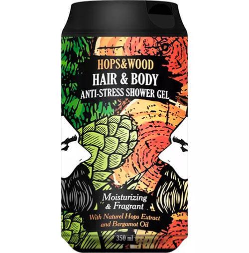 """Очищающий гель для тела и волос хмель и дерево Anti-Stress Hops & Wood """"The Chemical Barbers"""""""