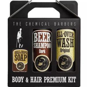 "Подарочный набор для мужчин Beer Shampoo Gift Set Premium ""The Chemical Barbers"""