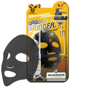 """Тканевая маска для лица с порошком древесного угля очищающая """"Elizavecca"""""""